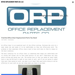 Find the Office Chair Replacement Parts You Need - OFFICE REPLACEMENT PARTS CO. LLC