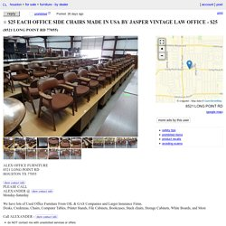 $25 EACH OFFICE SIDE CHAIRS MADE IN USA BY JASPER VINTAGE LAW OFFICE