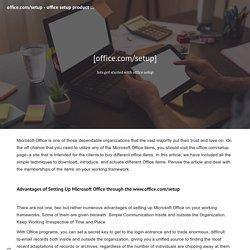 office.com/setup - office setup product key