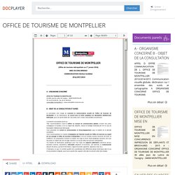 ⭐OFFICE DE TOURISME DE MONTPELLIER