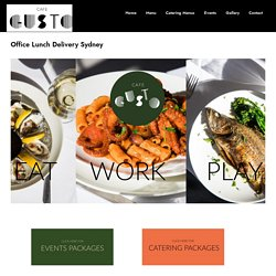 Appetizing Office Lunch Delivery Sydney