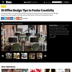 10 Office Design Tips to Foster Creativity