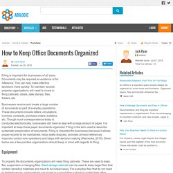 How to Keep Office Documents Organized