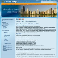Mayor's Office Fellowship Program
