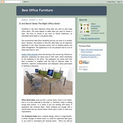 Best Office Furniture: Are Bench Desks The Right Office Desk?