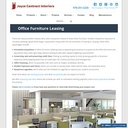 Office Furniture Leasing - Boston, MA