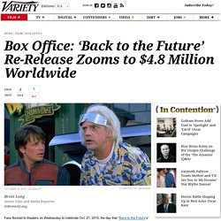 Box Office: 'Back to the Future' Re-Release Earns $4.8 Million