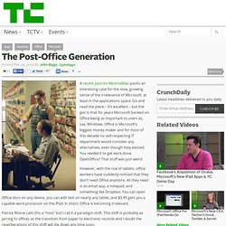 The Post-Office Generation