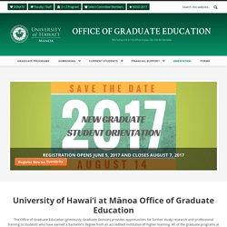 U Hawaii: graduate