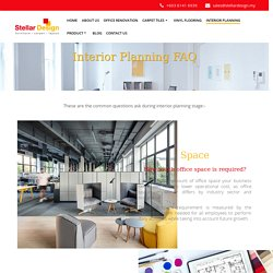 FAQ - All You Need To Know About Office Interior Design Planning