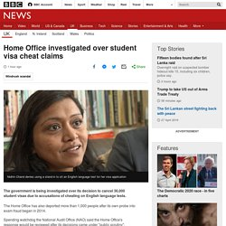 Home Office Investigated Over Student Visa Cheat Claims