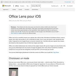 Lens pour iOS