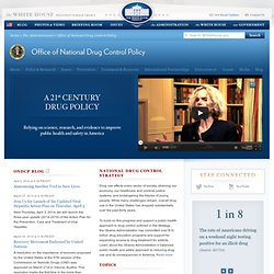 Street Terms: Drugs and the Drug Trade - ONDCP
