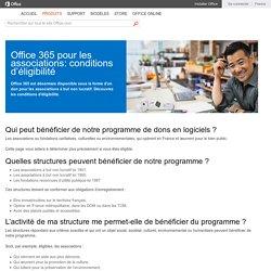 Office 365 pour les organismes à but non lucratif