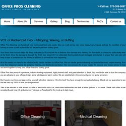 Professional Office Floor Care Service Dallas Scranton Wilkes Barre, PA