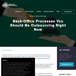 Back-Office Processes You Should Be Outsourcing Right Now