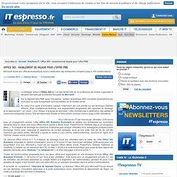 Office 365 : ravalement de façade pour l'offre PME