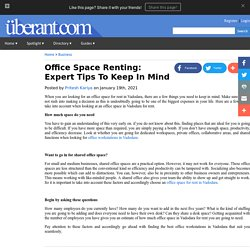 Office Space Renting: Expert Tips To Keep In Mind