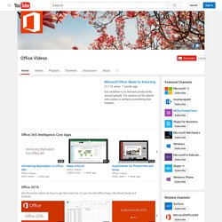 Microsoft Office YouTube Channel