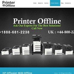HP Officejet 3830 Offline