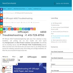HP Officejet 4650 Troubleshooting Call +1 415-729-8750