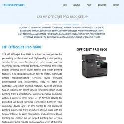 123 HP Officejet Pro 8600 Setup & Install