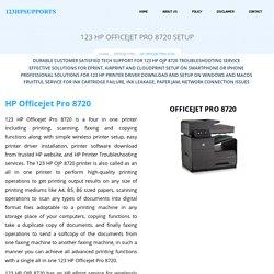 123 HP Officejet Pro 8720 Setup & Install
