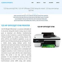 HP Officejet 5740 Setup, Install & Troubleshoot