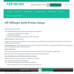 123 HP Officejet 4650 Printer Setup & install