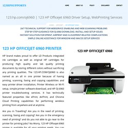 HP Officejet 6960 Driver Setup, WebPrinting Services