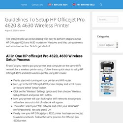 HP Officejet Pro 4620 Wireless Setup All In One 4630 Wi-fi Connection