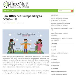 How Officenet is responding to COVID – 19?