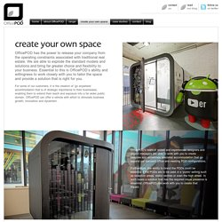 OfficePOD®. Create my own space.