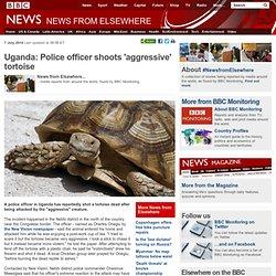 Uganda: Police officer shoots 'aggressive' tortoise