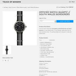 Officer Watch Quartz // South Wales Borderers - Smart Turnout