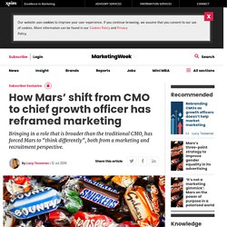 How Mars' shift from CMO to chief growth officer has reframed marketing
