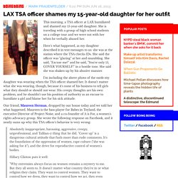 LAX TSA officer shames my 15-year-old daughter for her outfit