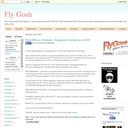 First Officer / Captain - Singapore Airlines new LCC