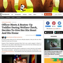 Officer Meets A Beaten-Up Toddler During Welfare Check, Decides To Give Her His Heart And His Home