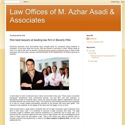 Hire best lawyers at leading law firm in Beverly Hills