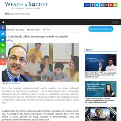 Why Asian family offices are moving towards sustainable investing