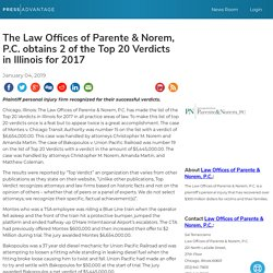 The Law Offices of Parente & Norem, P.C. obtains 2 of the Top 20 Verdicts in Illinois for 2017