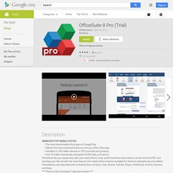 OfficeSuite Pro 7 (essai)