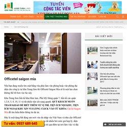 Officetel saigon mia - Sàn giao dịch BĐS Hưng Thịnh