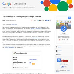 Advanced sign-in security for your Google account