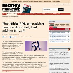 First official RDR stats: adviser numbers down 20%, bank advisers fall 44%