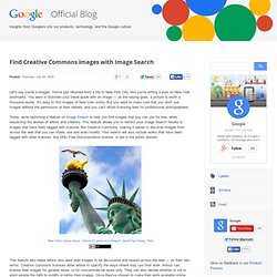 Official Google Blog: Find Creative Commons images with Image Se