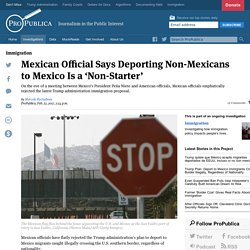 Mexican Official Says Deporting Non-Mexicans to Mexico Is a 'Non-Starter'