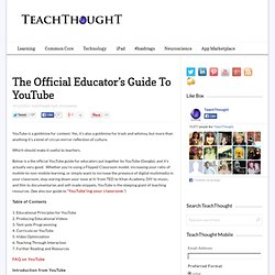 The Official Educator's Guide To YouTube