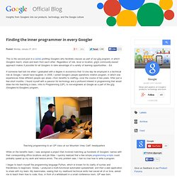 Finding the inner programmer in every Googler